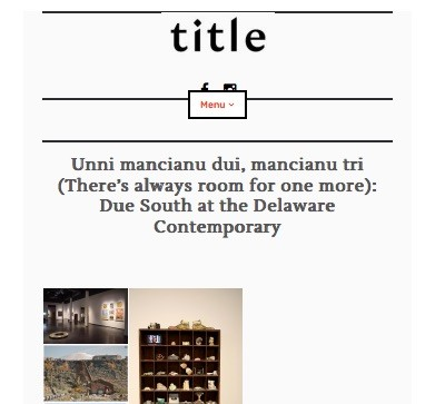 Title Magazine - Unni mancianu dui, mancianu tri (There's always room for one more)