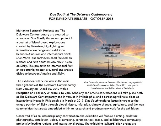 Due South Press Release