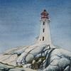 Lighthouse at Peggys Cove, Nova Scotia