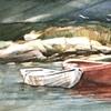 Boats in Peggys Cove, Nova Scotia.