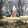 Farmhouse on the way to St Marys, Ontario.