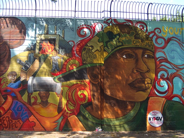 A Groundswell Mural project with American Friends Service committee, Assemblyman Karim Camara