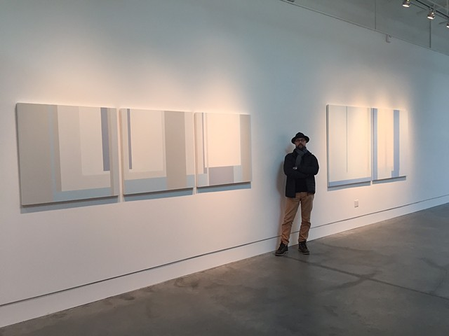 Installation view: Other Rooms; exhibition at Page Bond Gallery, March 2015 left: Shoji, right: Clear Story