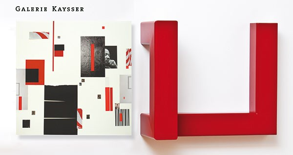 Collage With/ invite, Galerie Kaysser