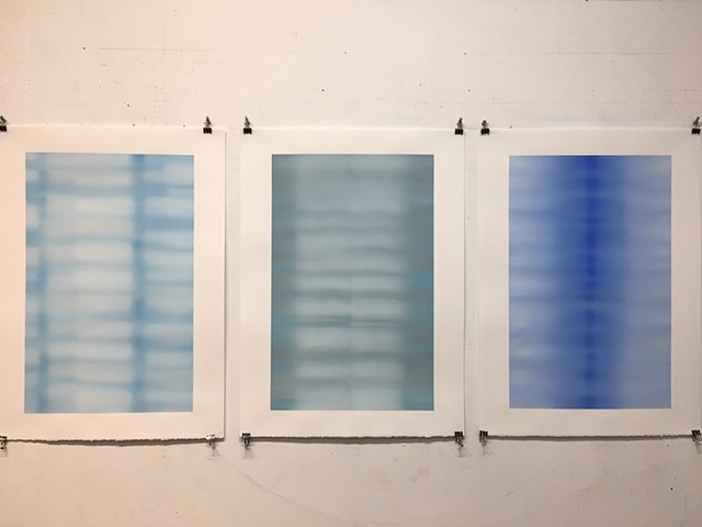 studio view: States of Blue 1, 2, & 7