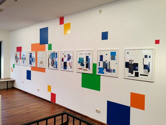 Collage With/ installation view Galerie Kaysser, Ruhpolding, Germany September - November, 2013