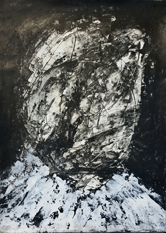 abstract portrait in black and white