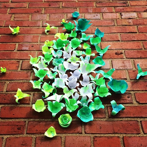 BLOOM by @DanaParisi flower installation for Ravenswood Art Walk 2017. Dana Parisi