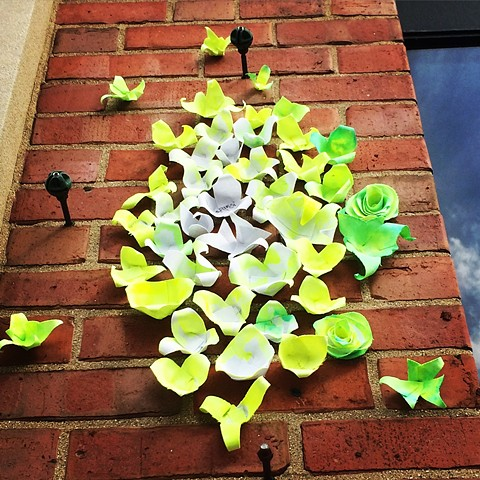BLOOM by @DanaParisi installation for Ravenswood Art Walk 2017. Dana Parisi