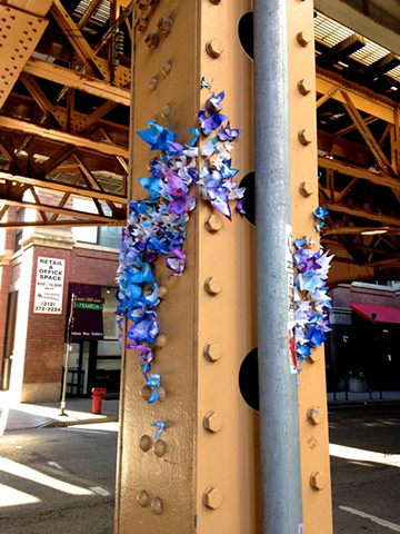 Street art, installation, flowers, Dana Parisi, @DanaParisi, BLOOM