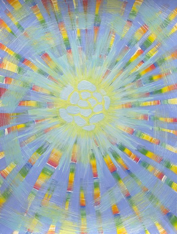abstract painting sun colors rainbow sunlight sunbeam