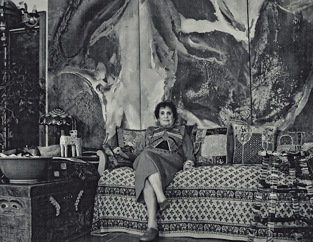 Canadian Female Icons, Female Canadian Artists,  Lila Lewis Irving in her home.