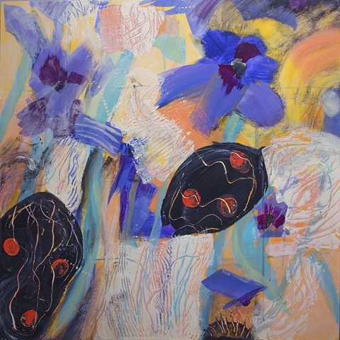 Paintings of Spring, Floral abstraction, Fresh Painting
