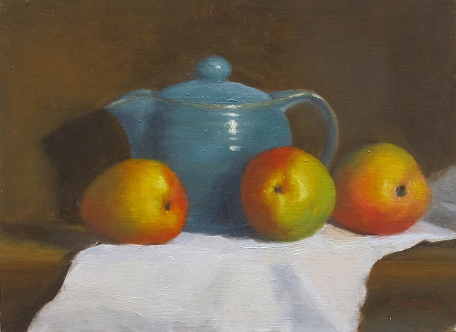 Teapot and Pears
