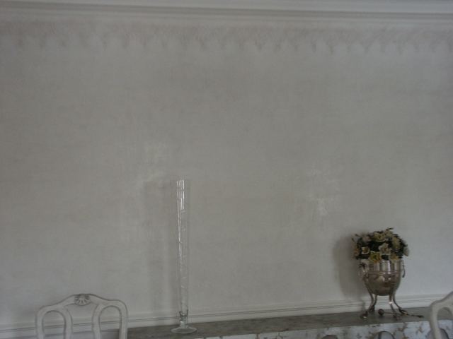 Venetian plaster and stencil in Dining Room