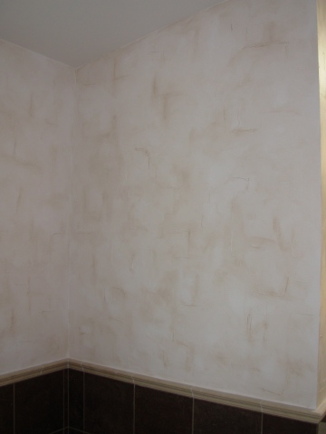 Venetian plaster in a bedroom