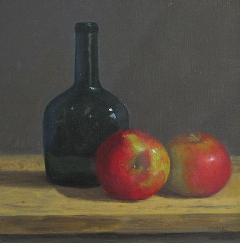 Bottle with Apples