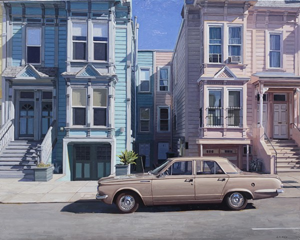 mission district oil painting