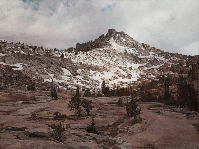 painting, landscape painting oil paint yosemite