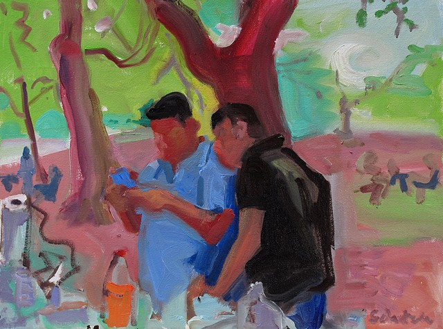Two Men Under Tree