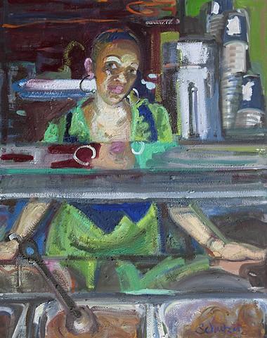 waitress portrait