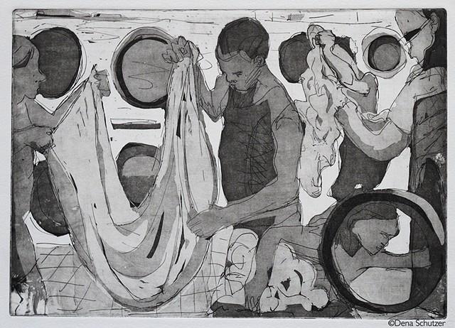 Laundromat-5 figures