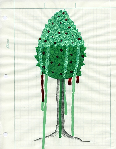 TREES: Sketch for The Lacemakers Red