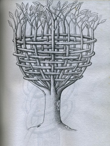 TREE: Basket Tree (B/W)