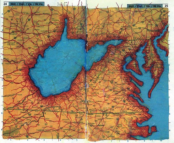 Pocket Road Atlas Page spread_ MD, DEL, VA, WVA