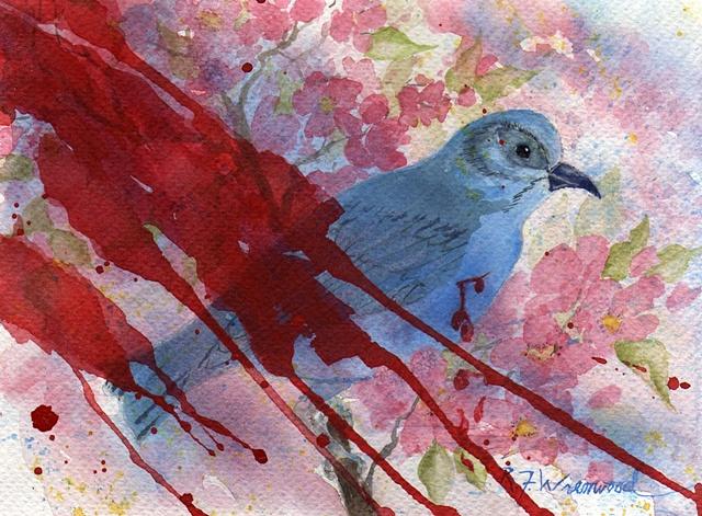 bluebird, pain, sorrow, stress