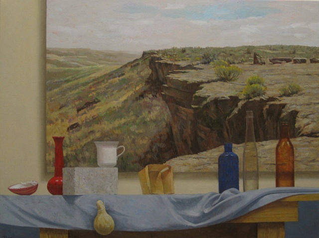 Still Life with Table Rock Painting