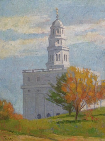 Nauvoo Temple in Autumn