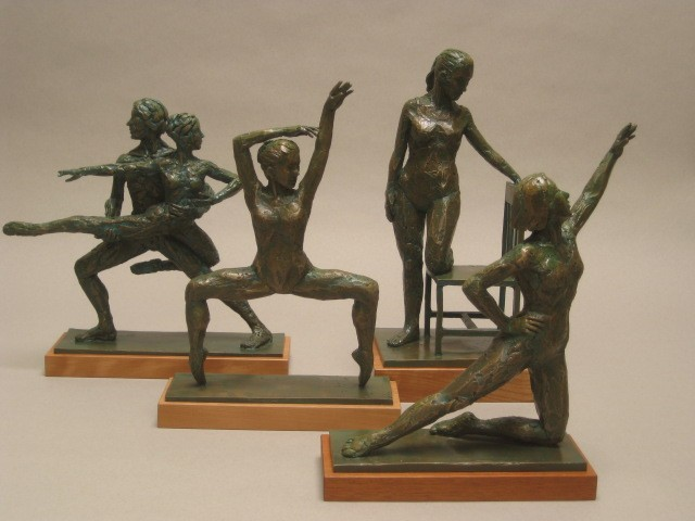 "Small figures in bronze 12"" high"