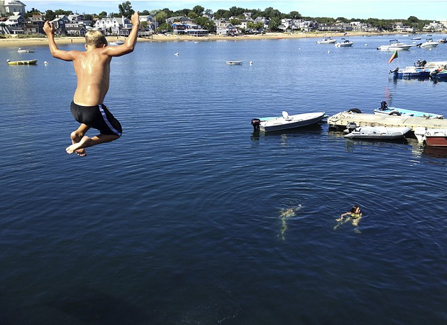 Pier Divers, Provincetown, MA © Sally Brophy