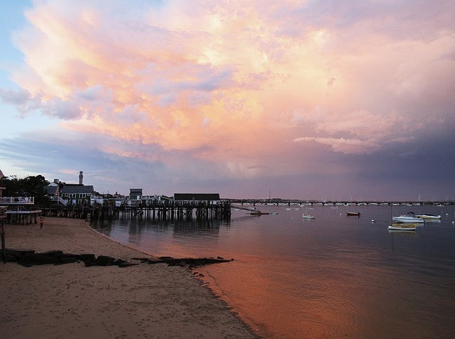 Stormy Sunset at Captain Jack's Wharf, Provincetown, MA © Sally Brophy