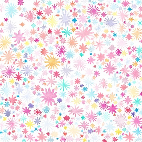 pattern painting watercolor abstract flowers