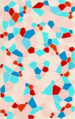 geometric abstract painting pattern gouache