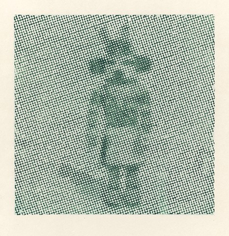 halftone woodcut of a kachina figurine
