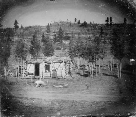 The First Cabin in Russell Gulch, circa 1860