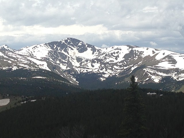 View of James Peak from the Plateau Lode, Colorado Mountain, Gilpin County