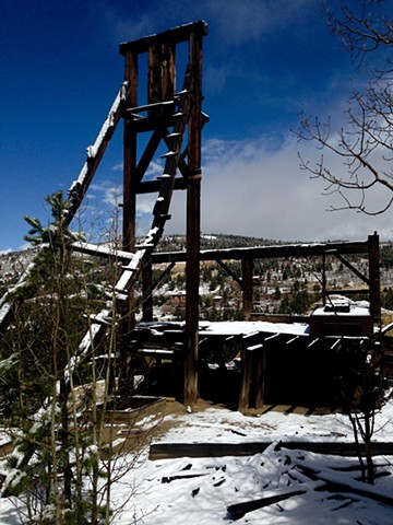 Head frame on Pewabic Mountain