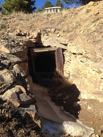 open shaft in Russell Gulch