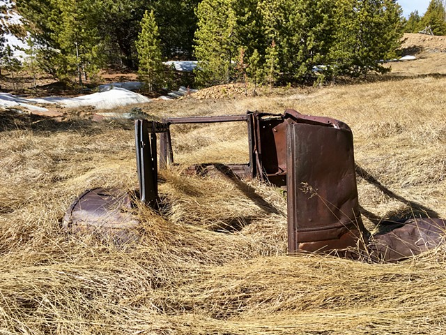 Vehicle abandoned for decades.