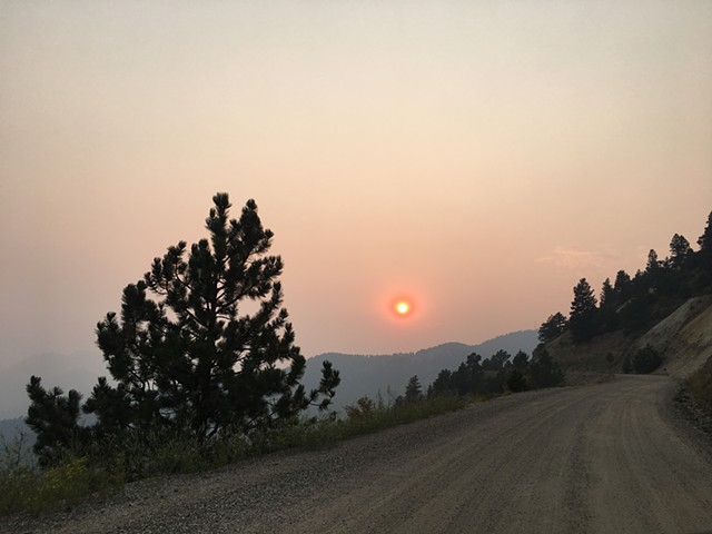 Solar Eclipse as seen from the 'Oh my Gawd Rd'
