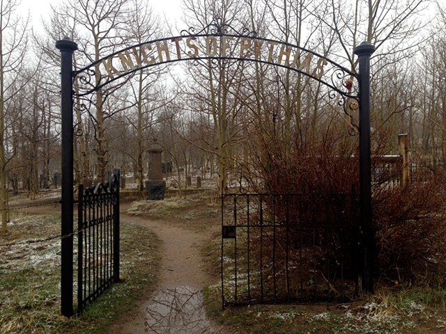 Entrance to Knights of Pythias Cemetery