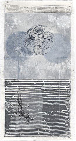 monotype, monoprint, mulit-media, mixed media, printmaking, collage, collagraph
