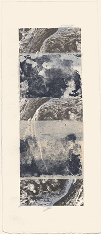 Printmaking, lithograph, chine collie', monorprint, monotype, collage, landscape, organic