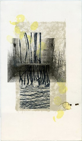 Lithograph, print, printmaking, monoprint, mixed media, collage