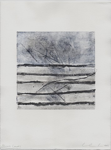 Printmaking, monorprint, monotype, collagraph, landscape, organic
