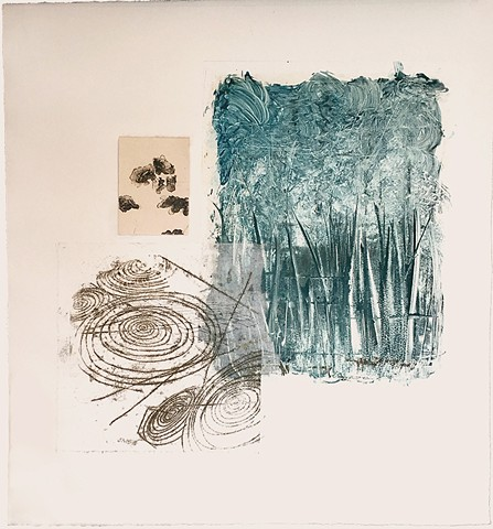 monotype, monoprint, mulit-media, printmaking, collage, lithograph